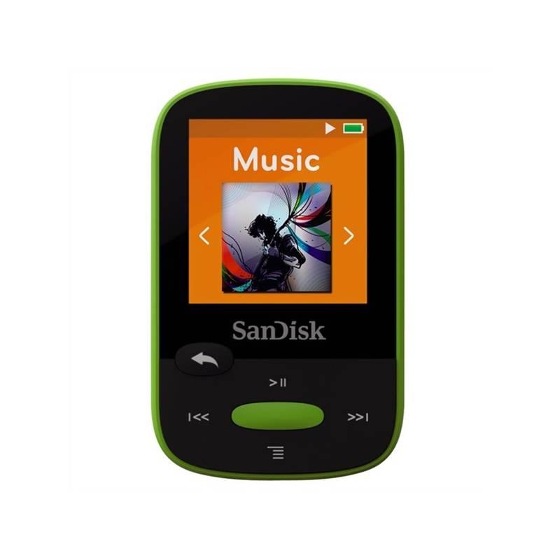MP3 prehrávač Sandisk Sansa Clip Sports 8 GB (SDMX24-008G-G46L) zelený