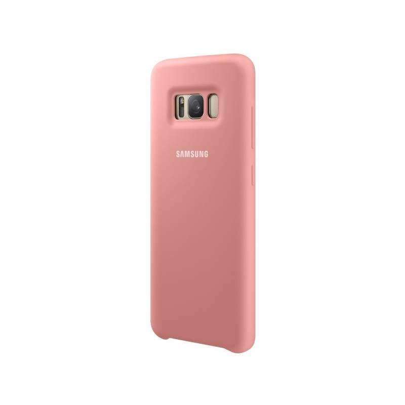 Kryt na mobil Samsung Silicon Cover pro Galaxy S8 (EF-PG950T) (EF-PG950TPEGWW) ružový