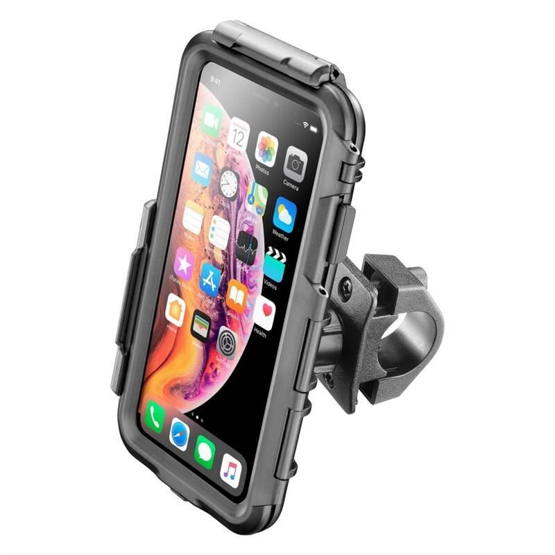 Držiak na mobil Interphone pro Apple iPhone XS Max, úchyt na řídítka (SMIPHONEXSMAX) čierny