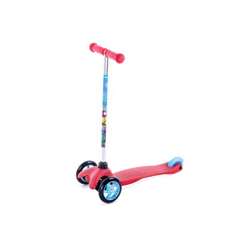 Trojkolka Spokey BULLER skládací dětská červená farba + Reflexní sada 2 SportTeam (pásek, přívěsek, samolepky) - zelené v hodnote 2.80 € + Doprava zadarmo