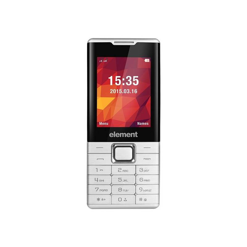 Mobilný telefón Sencor Element P020 (30013852) strieborný