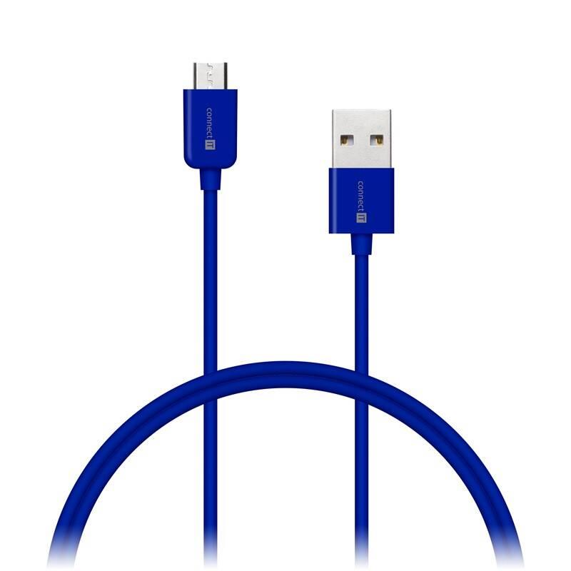 Kábel Connect IT Wirez USB/micro USB, 1m (CI-573) modrý