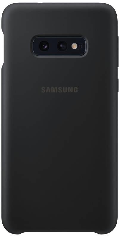 Kryt na mobil Samsung Silicon Cover pro Galaxy S10e (EF-PG970TBEGWW) čierny