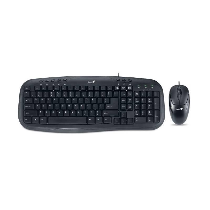 Klávesnice s myší Genius KM-210, CZ/SK (31330219103) černá
