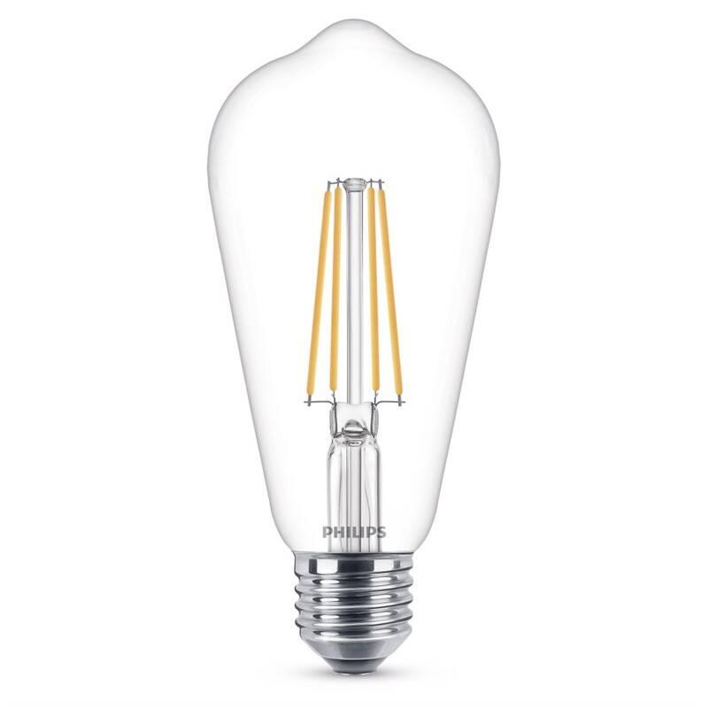 LED žiarovka Philips klasik, 7W, E27, teplá bílá (8718696742433)