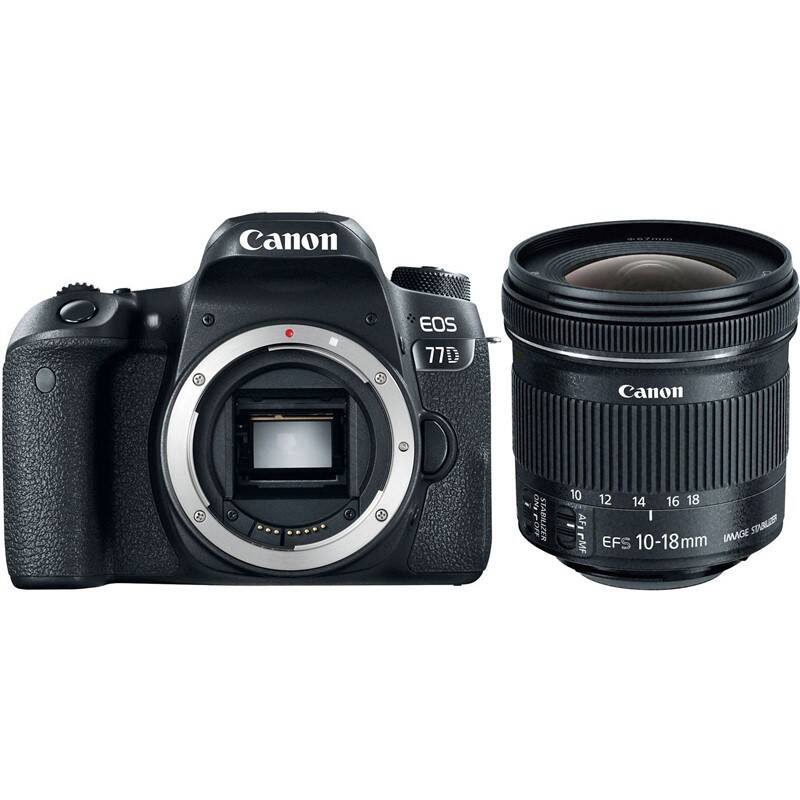 Set výrobkov Canon EOS 77D + EF-S 10-18 mm f/4.5-5.6 IS STM + Doprava zadarmo
