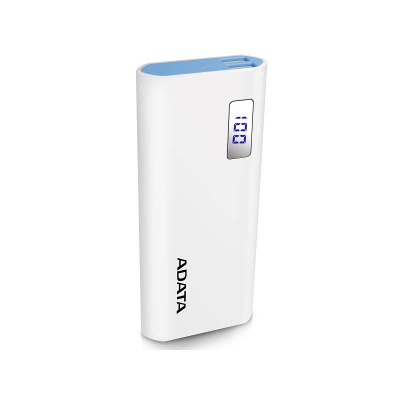 Power Bank ADATA P12500D 12500mAh (AP12500D-DGT-5V-CWH) biela