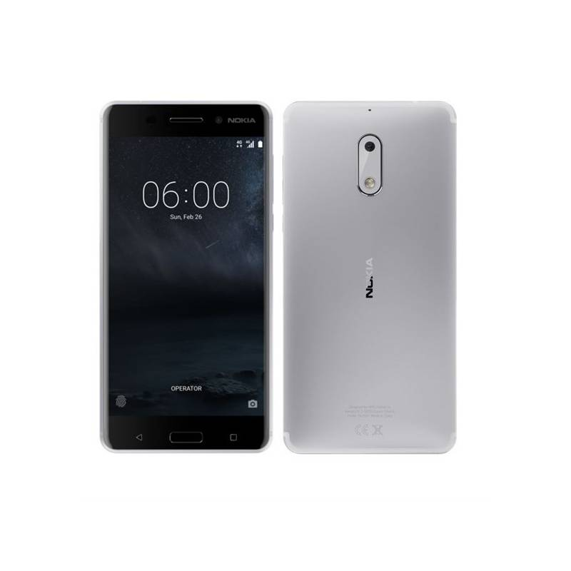 Mobilný telefón Nokia 6 Dual SIM (11PLES01A09) strieborný + Doprava zadarmo