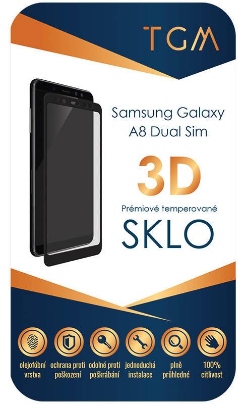 Ochranné sklo TGM 3D pro Samsung Galaxy A8 DS (TGM3DSGA8BK) čierne