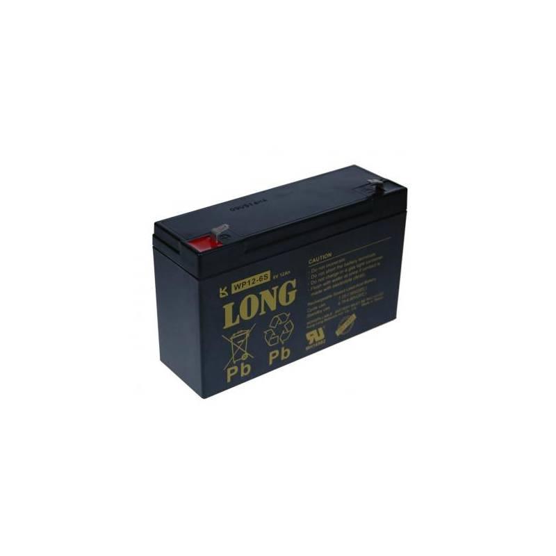 Olovený akumulátor Avacom Long 6V 12Ah (PBLO-6V012-F1A) čierny