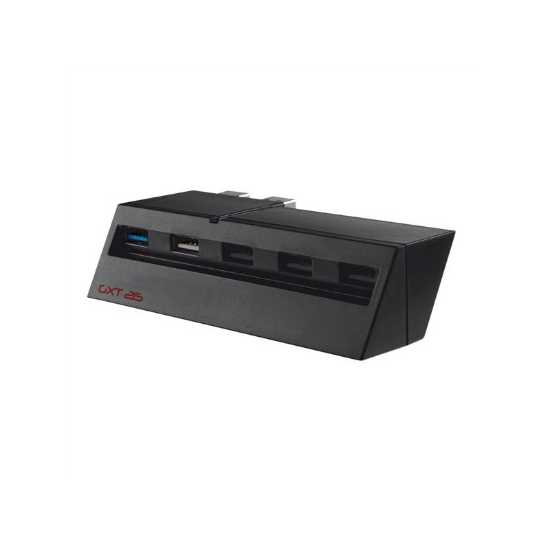 USB Hub Trust USB 2.0 / 1x USB 3.0 + 4x USB 2.0 (19866) čierny