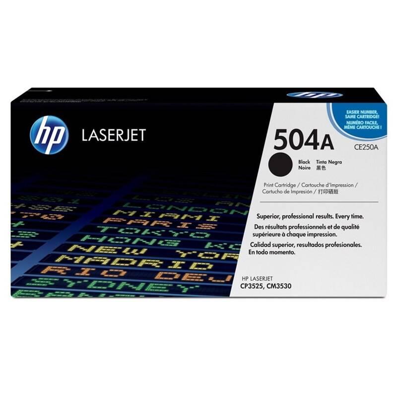 Toner HP 504A, 5000 stran (CE250A) čierny + Doprava zadarmo