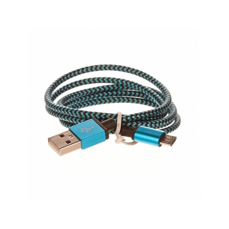 Kábel CellFish USB/micro USB, 1m (PLUSBKABELBLUE) modrý