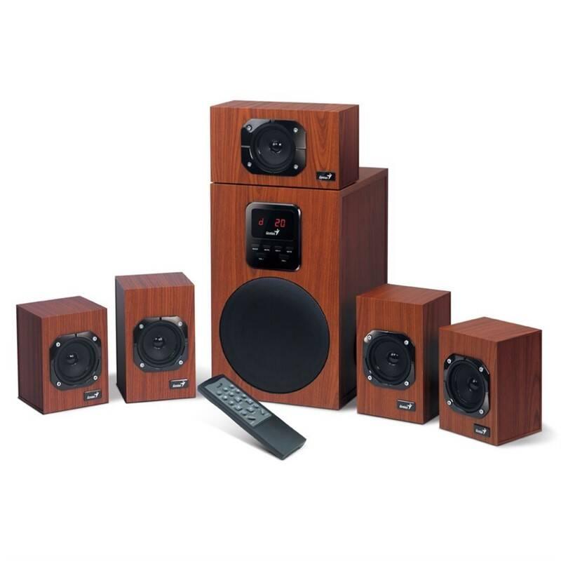 Reproduktory Genius SW-HF 4800, 5.1, Verze II. (31730017400) dřevo