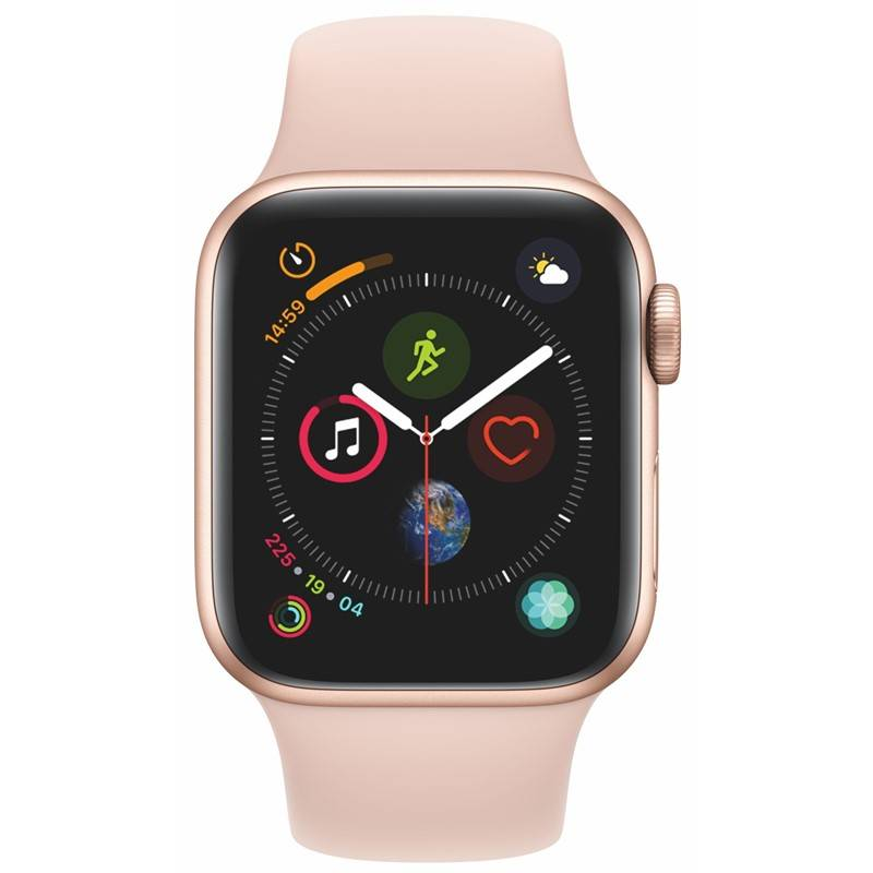Chytré hodinky Apple Watch Series 4 GPS 40mm pouzdro ze zlatého hliníku - pískově růžový sportovní řemínek SK verze (MU682VR/A) + Doprava zadarmo