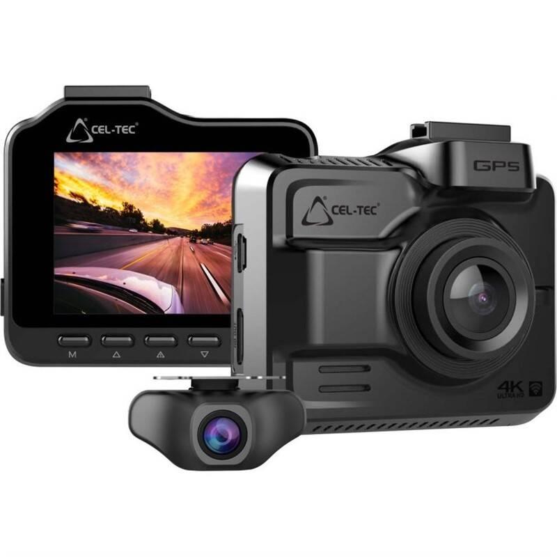 Autokamera CEL-TEC K4 Dual GPS sivá