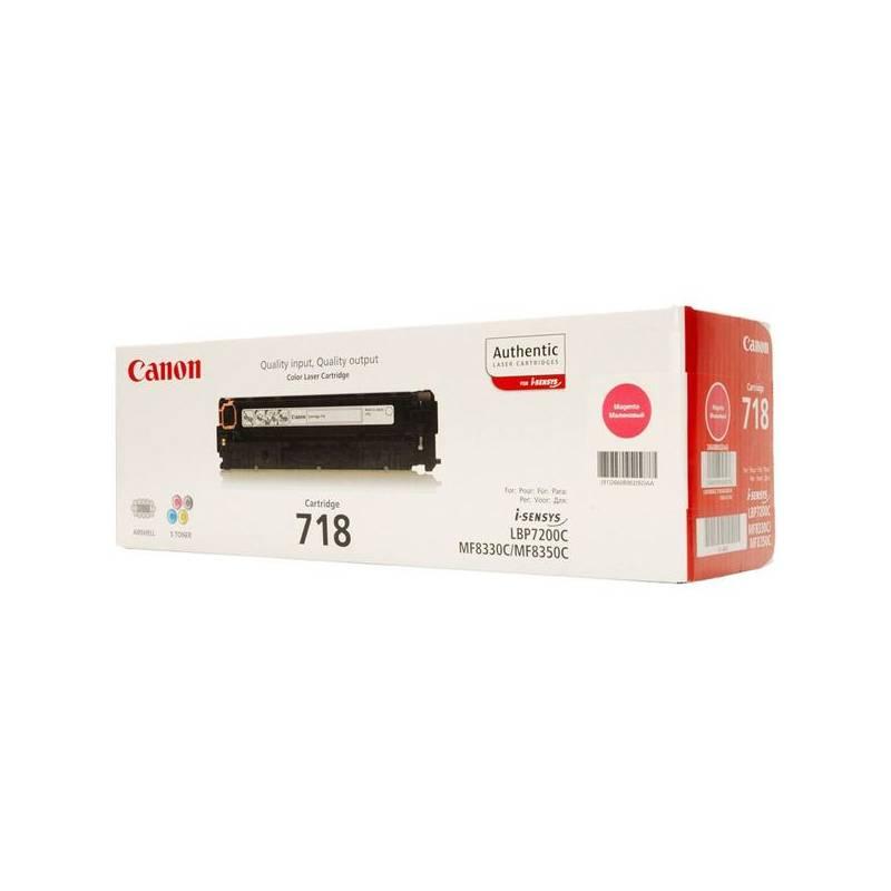 Toner Canon CRG-718M, 2900 stran (2660B002) červený