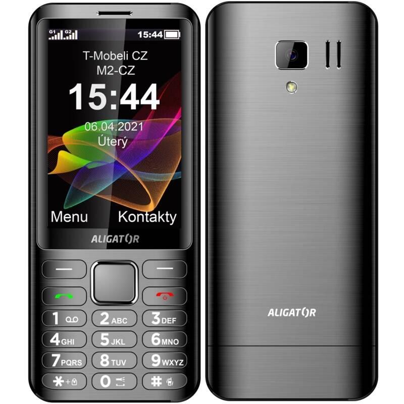 Mobilný telefón Aligator D950 Dual Sim (AD950AT) sivý