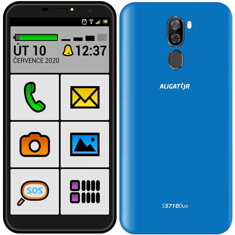 Mobilný telefón Aligator S5710 Senior (AS5710SENBE) modrý