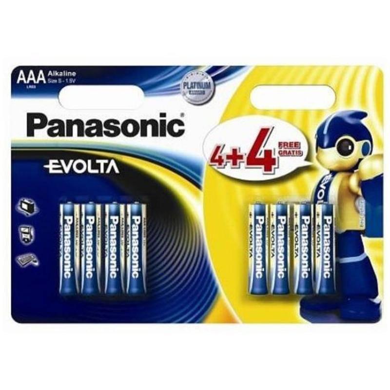 Batéria alkalická Panasonic Evolta, AAA, 4 + 4 ks (226839)