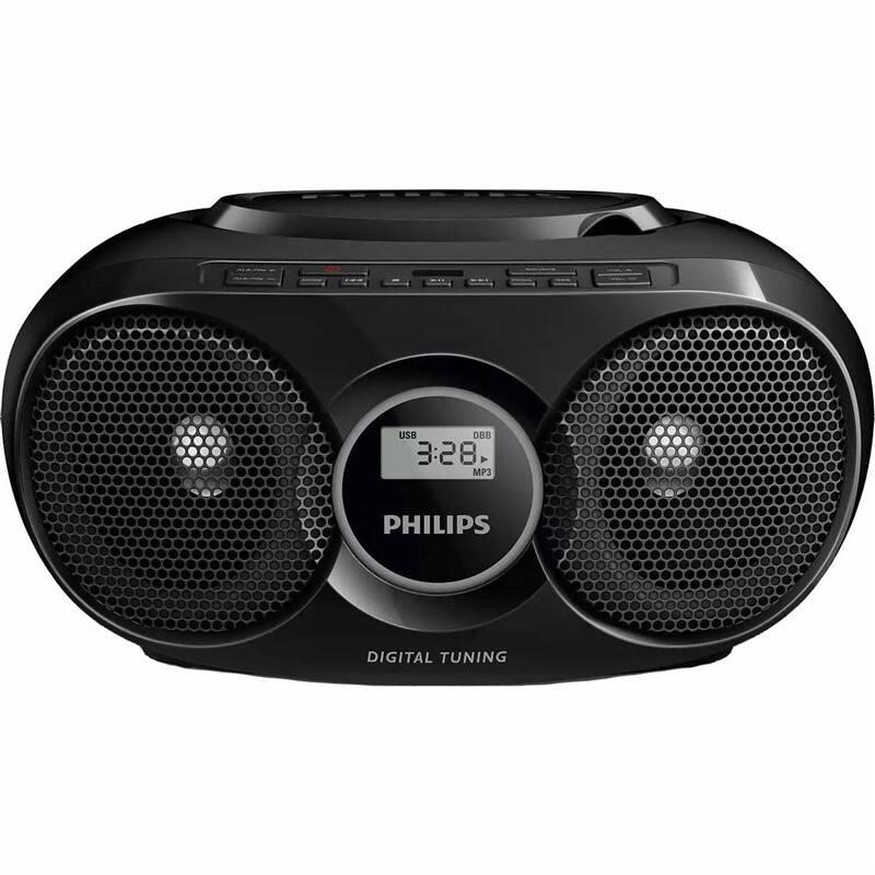 Rádioprijímač s CD Philips AZ318B čierny