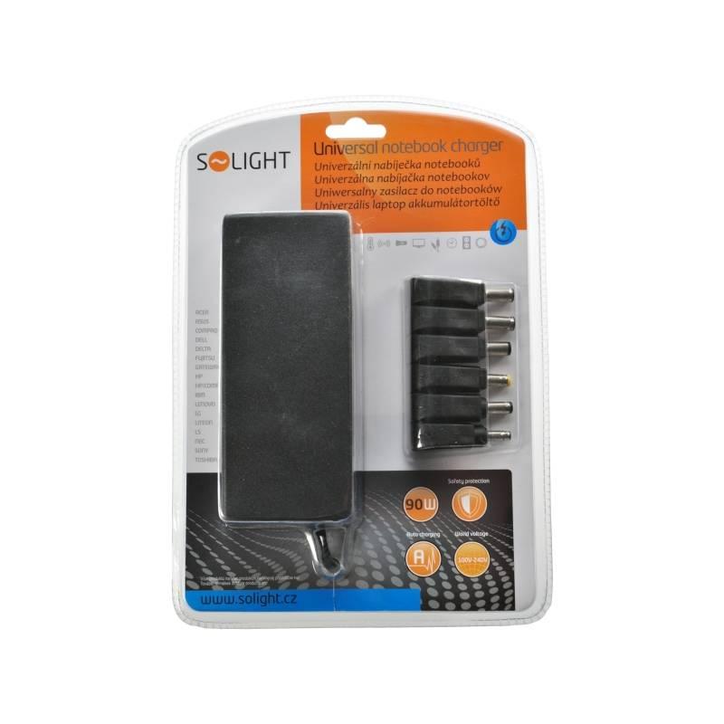 Sieťový adaptér Solight DA33 Univerzální 90W pro notebooky, 6 koncovek, automat (268449)