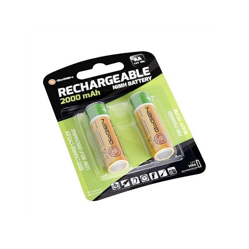 Batéria nabíjacie GoGEN AA, HR06, 2000mAh, Ni-MH, blistr 2ks (GOGR06CHARGE2000)