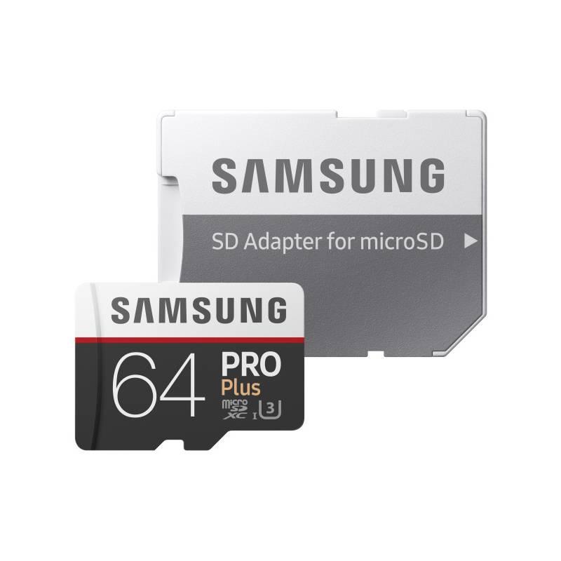 Pamäťová karta Samsung Micro SDXC PRO+ 64GB UHS-I U3 (100R/90W) + adapter (MB-MD64GA/EU)