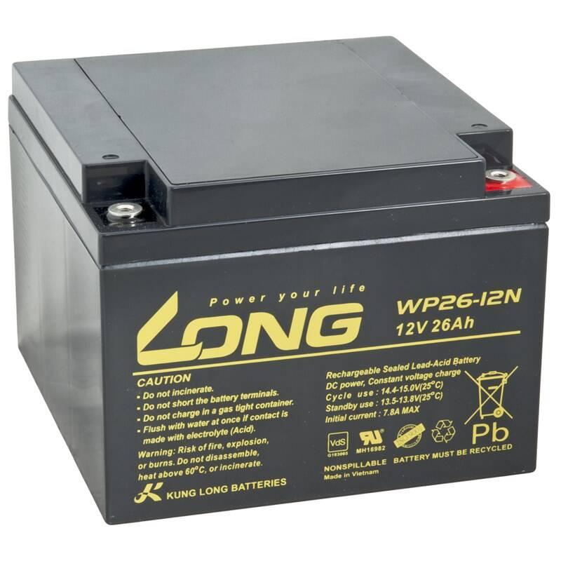 Olovený akumulátor Avacom Long 12V 26Ah M5 (WP26-12N) (PBLO-12V026-F6A) + Doprava zadarmo