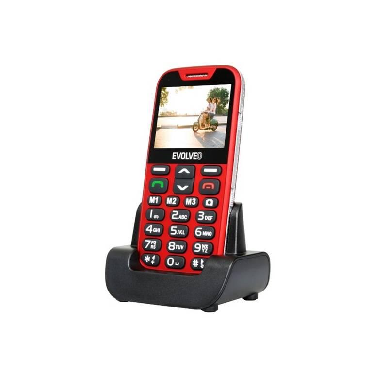 Mobilný telefón Evolveo EVOLVEO EasyPhone XD pro seniory (EP-600-XDR) červený Software F-Secure SAFE, 3 zařízení / 6 měsíců (zdarma)