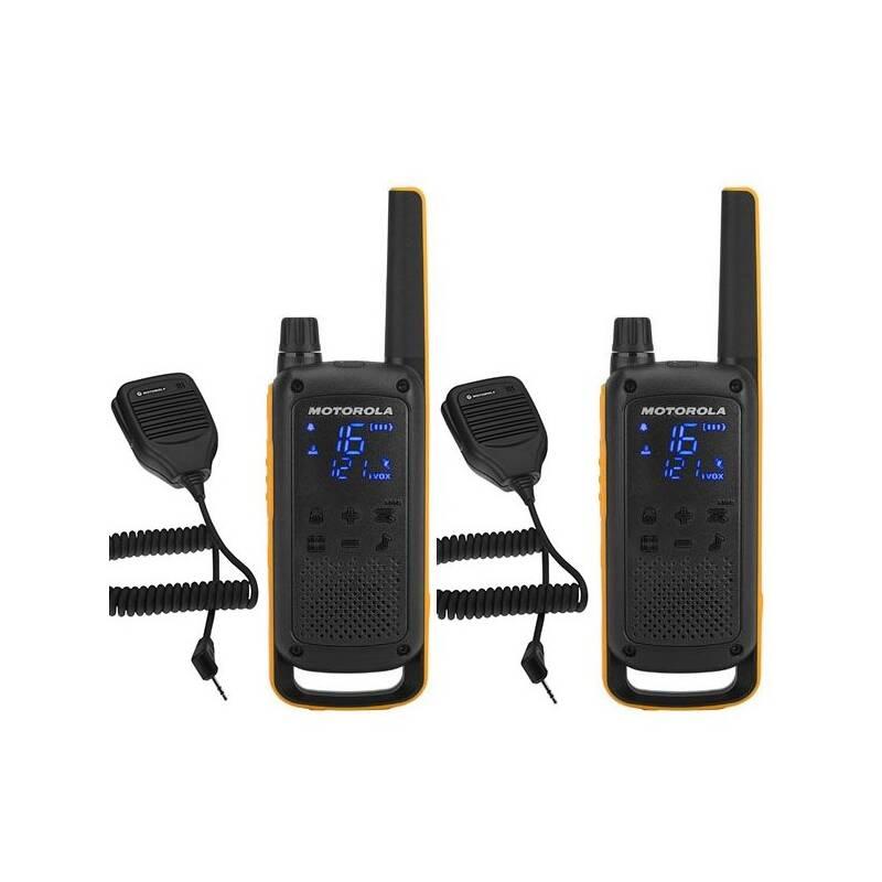 Vysielačky Motorola TLKR T82 Extreme RSM Pack (B8P00811YDZMAG) čierny/žltý