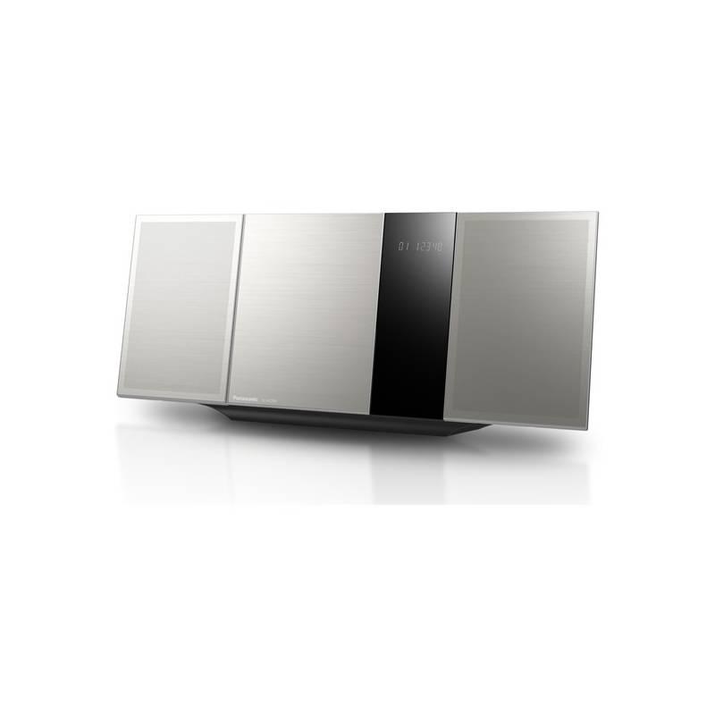 Mikro HiFi systém Panasonic SC-HC395EG-S strieborný Sluchátka Panasonic RP-HF100ME-K - černá (zdarma)