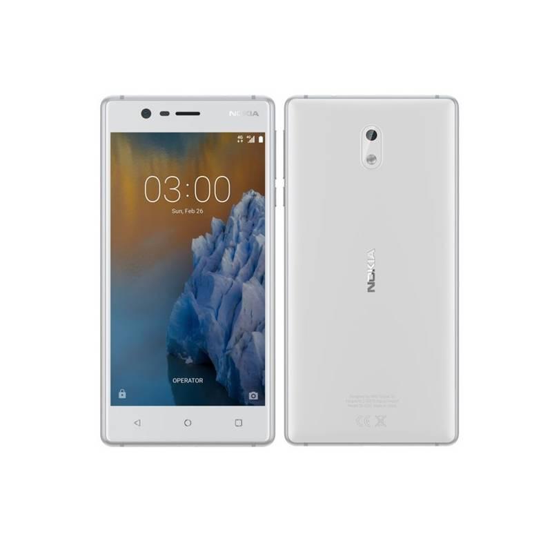 Mobilný telefón Nokia 3 Dual SIM (11NE1S01A14) biely + Doprava zadarmo
