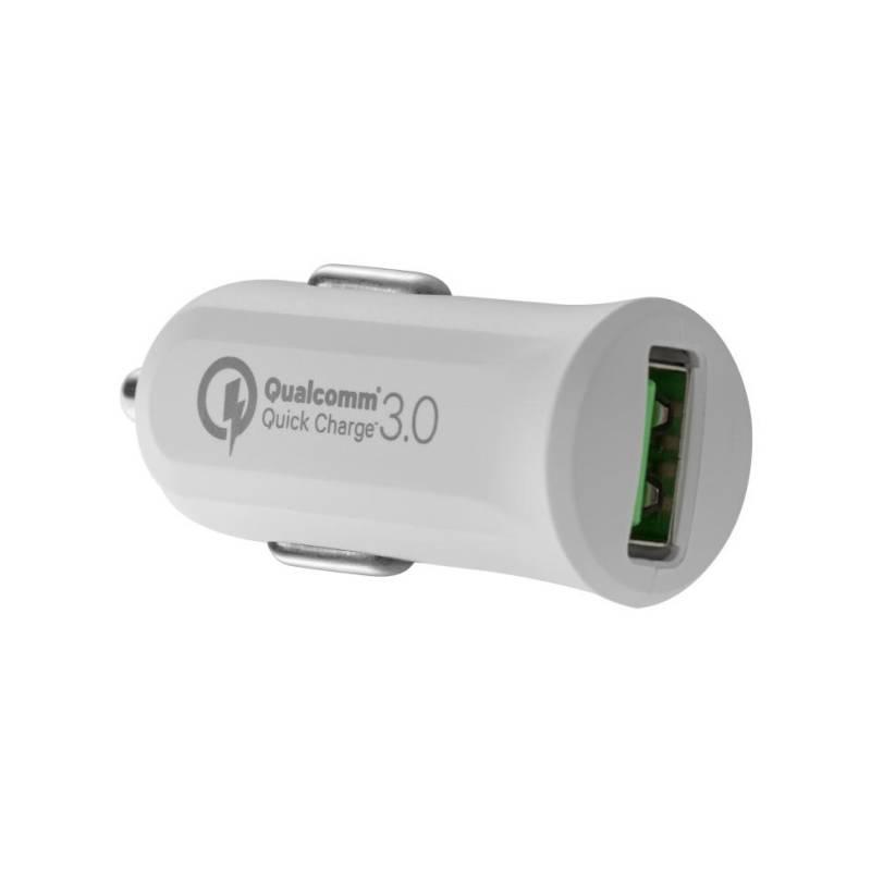 Autonabíjačka Avacom CarMAX, 1x USB (3A), s funkcí rychlonabíjení QC 3.0 (NACL-QC1X-WW) biely