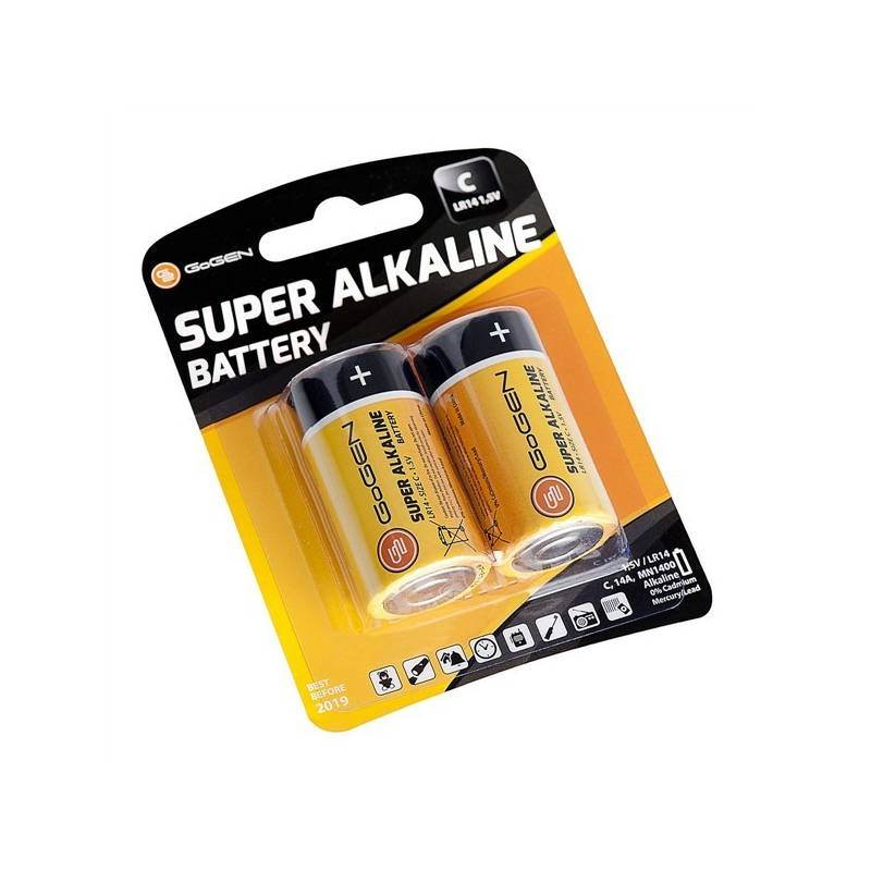 Batéria alkalická GoGEN SUPER ALKALINE C, LR14, blistr 2ks (GOGR14ALKALINE2) čierna/oranžová