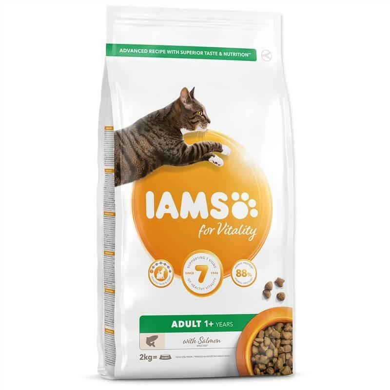 Granule Iams Cat Adult Salmon 2kg