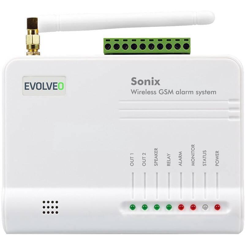 Alarm Evolveo Sonix, bezdrátový, GSM (ALM301) bílý