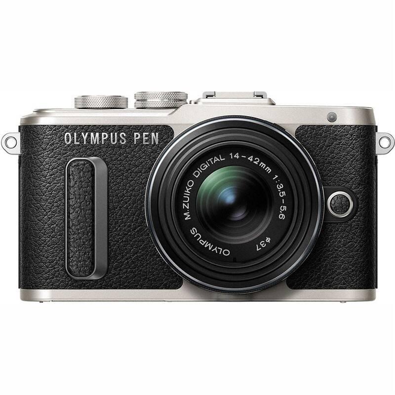 Digitálny fotoaparát Olympus E-PL8 + 14-42 Kit (V205081BE000) čierny/strieborný