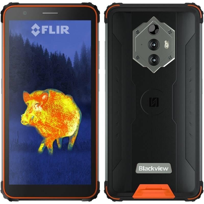Mobilný telefón iGET Blackview GBV6600 Pro Thermo (84008058) oranžový Slúchadlá iGET Blackview Airbuds G1 (84008043) čierna + Doprava zadarmo