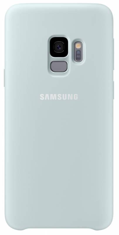 Kryt na mobil Samsung Silicon Cover pro Galaxy S9 (EF-PG960T) (EF-PG960TLEGWW) modrý