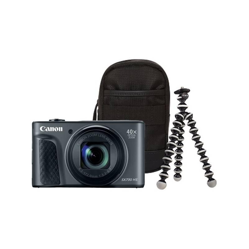 Digitálny fotoaparát Canon PowerShot SX730HS, Travel Kit (1791C016AA) čierny