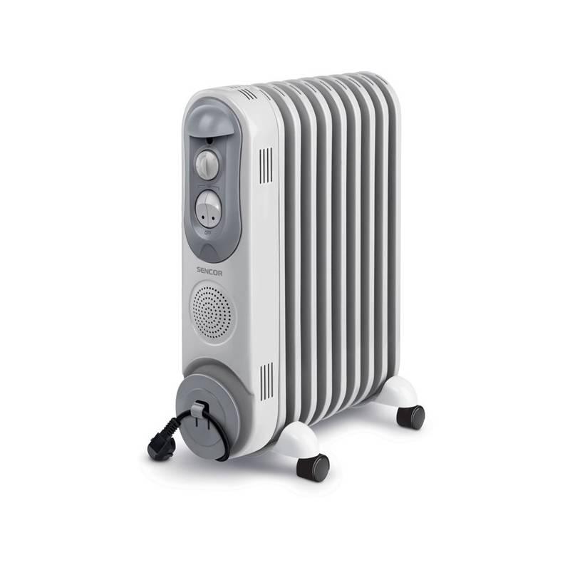 Olejový radiátor Sencor SOH 4009BE sivý/biely