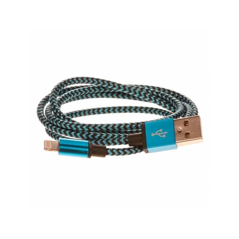 Kábel CellFish USB/Lightning, 1m (IPPLUSBKABELBLUE) modrý