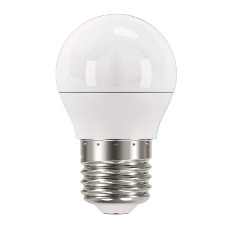 LED žiarovka EMOS mini globe, 6W, E27, studená bílá (1525733102)