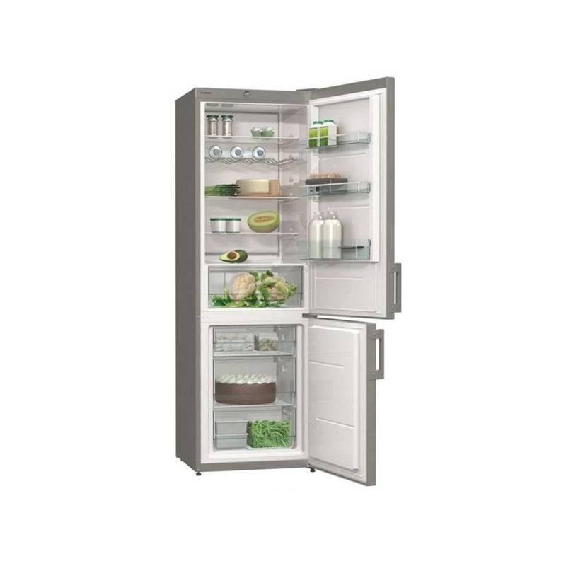 Kombinácia chladničky s mrazničkou Gorenje Essential RK6192AX nerez