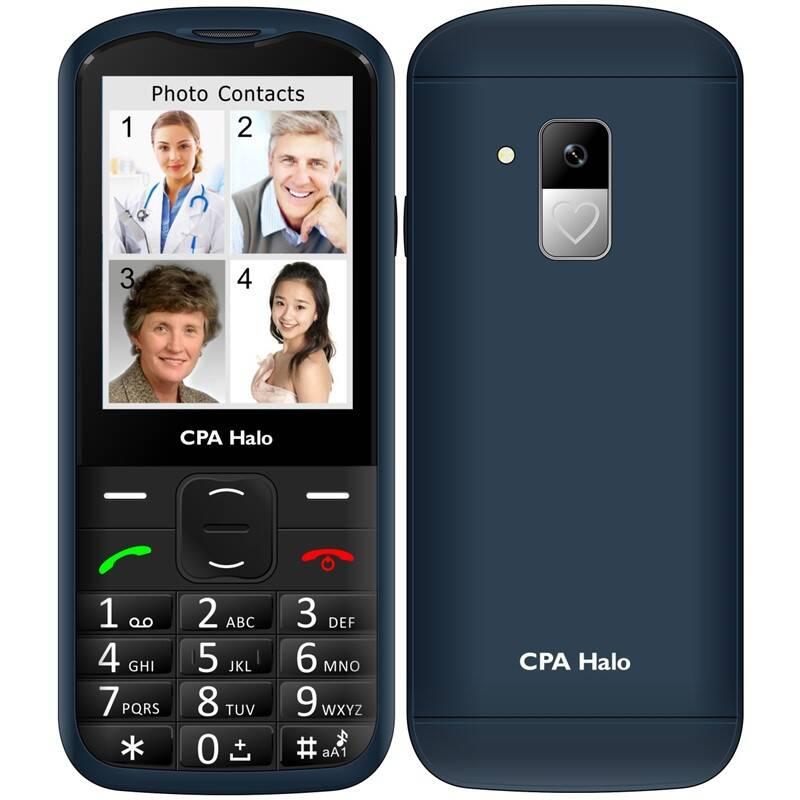 Mobilní telefon CPA Halo 18 Senior s nabíjecím stojánkem (TELMY1018BL) modrý