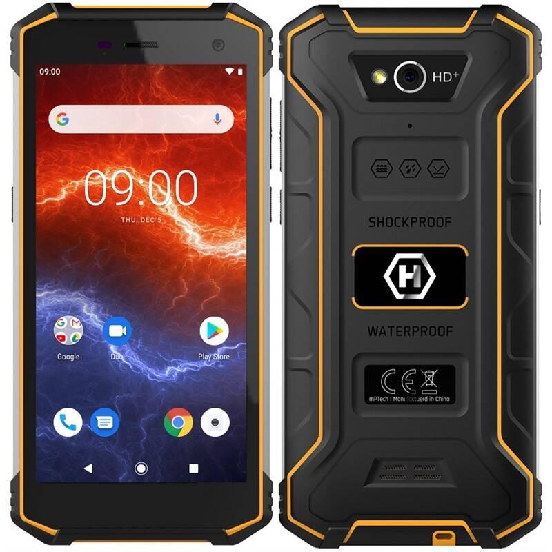 Mobilný telefón myPhone Hammer Energy 2 (TELMYAHENER2LOR) čierny/oranžový + Doprava zadarmo
