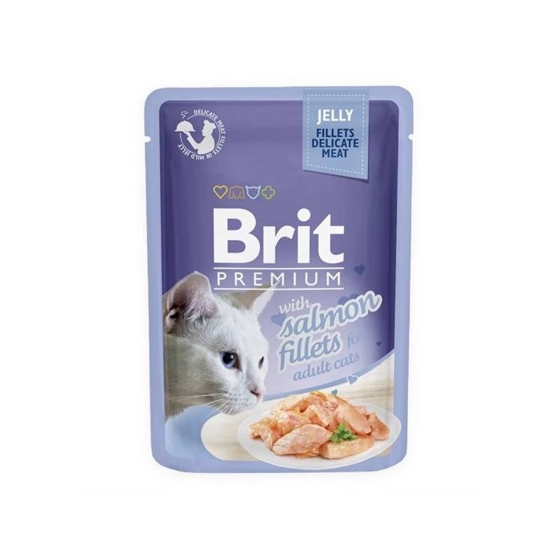 Kapsička Brit Premium Cat D Fillets in Jelly with Salmon 85 g