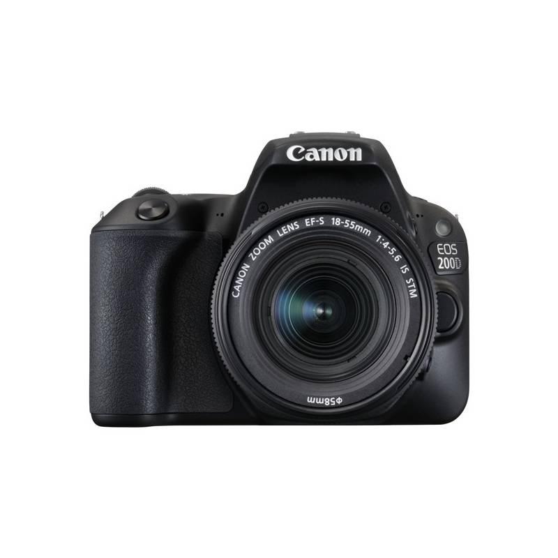 Digitálny fotoaparát Canon EOS 200D + EF18-55 IS STM (2250C002) čierny Brašna na foto/video Canon Holster HL100 (zdarma) + Doprava zadarmo