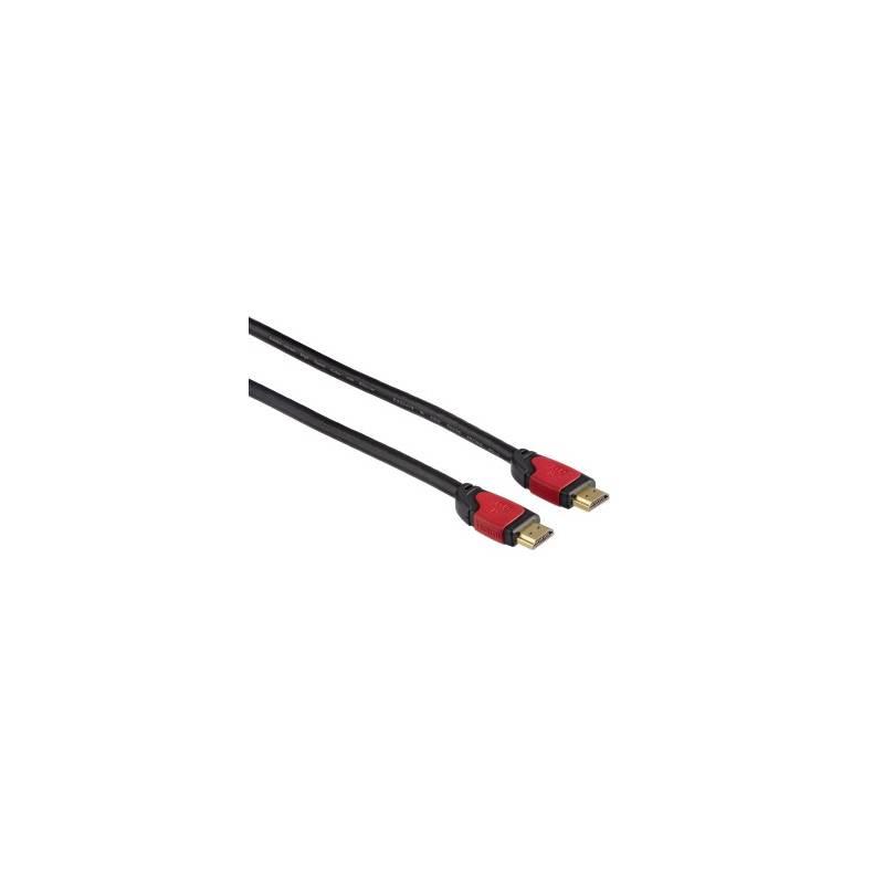 Prepojovací kábel Hama HDMI vidlice - HDMI vidlice v. 1.4, Ethernet kanál, 5m (83082) čierny
